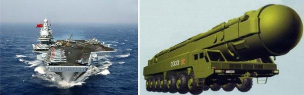 Kapal Induk dan Rudal Antar Benua milik RRC