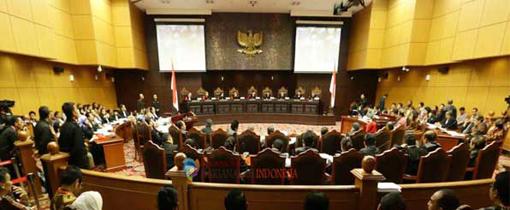 Mahkamah Konstitusi menolak seluruh gugatan Prabowo-Hatta